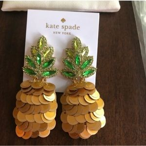 Kate Spade By the Pool Pineapple Statement Earring